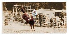 Helluva Rodeo-the Ride 3 Beach Towel