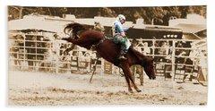 Helluva Rodeo-the Ride 4 Beach Towel