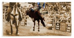Helluva Rodeo-the Ride 5 Beach Towel