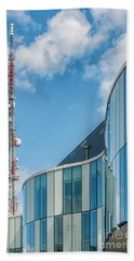 Beach Towel featuring the photograph Helsingborg Arena Concert Hall by Antony McAulay