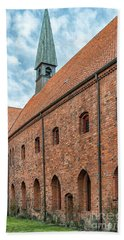 Beach Towel featuring the photograph Helsingor Saint Mary Church by Antony McAulay