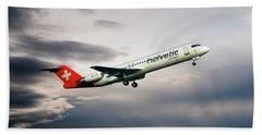 Helvetic Airways Fokker 100 Beach Towel