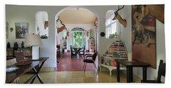 Hemingways' Cuba House Entrance No. 10 Beach Towel