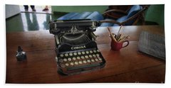 Hemingways' Cuba Typewriter No. 6 Beach Towel