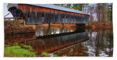 Hemlock Covered Bridge Fryeburg Maine Beach Towel