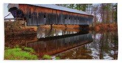 Hemlock Covered Bridge Fryeburg Maine Beach Sheet