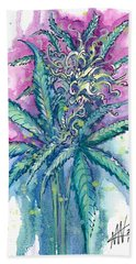 Hemp Blossom Beach Sheet by Ashley Kujan