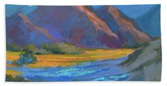 Beach Towel featuring the painting Henderson Canyon Borrego Springs by Diane McClary