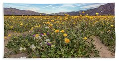 Beach Towel featuring the photograph Henderson Canyon Super Bloom by Peter Tellone