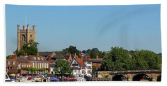 Henley On Thames Beach Towel by Ken Brannen