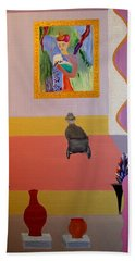 Henri Visits Beach Towel by Bill OConnor