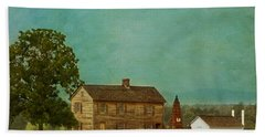 Henry House At Manassas Battlefield Park Beach Towel by Kim Hojnacki