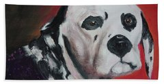 Beach Towel featuring the painting Henry by Lyric Lucas