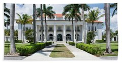 Henry Morrison Flagler Mansion Beach Sheet by John Black