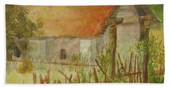 Beach Towel featuring the painting Herb Garden by Vicki  Housel