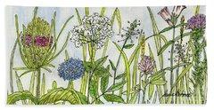 Herbs And Flowers Beach Sheet