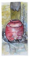 Herculaneum Amphora Pot Beach Sheet