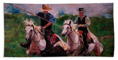 Herdsmen Beach Towel by Khalid Saeed