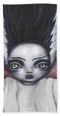 Here Comes The Bride Beach Towel by Abril Andrade Griffith