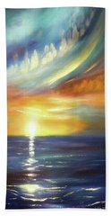 Here It Goes - Vertical Colorful Sunset Beach Sheet