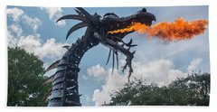 Here There Be Dragons Beach Towel