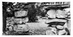 Hermit's Rest, Black And White Beach Towel