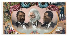 Heroes Of The Colored Race  Beach Towel
