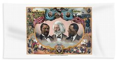 Heroes Of The Colored Race  Beach Towel by War Is Hell Store