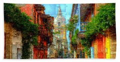 Heroic City, Cartagena De Indias Colombia Beach Towel