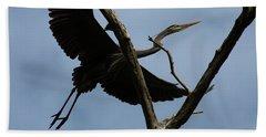 Heron Flight Beach Towel