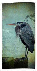 Heron Moon Beach Towel