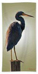Heron On Post Beach Sheet