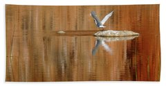 Beach Towel featuring the photograph Heron Tapestry by Evelyn Tambour