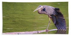 Heron Yoga Beach Towel