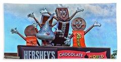 Hershey's Chocolate World Sign Beach Towel