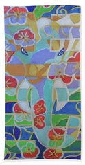 Beach Sheet featuring the painting Hexagram 16 - Yu - Enthusiasm by Denise Weaver Ross