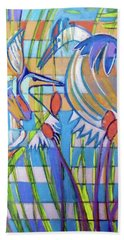 Beach Towel featuring the painting Hexagram 17-sui by Denise Weaver Ross