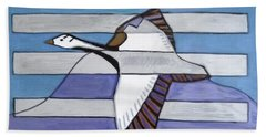 Beach Towel featuring the painting Hexagram 20-kuan-contemplation by Denise Weaver Ross