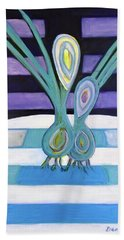 Beach Towel featuring the painting  Hexagram 34-ta Chuang-vigor by Denise Weaver Ross