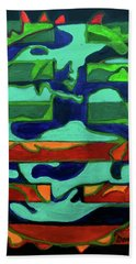 Beach Towel featuring the painting Hexagram 36 - Ming Yi by Denise Weaver Ross
