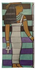 Beach Towel featuring the painting  Hexagram 43-guai-truth To Power by Denise Weaver Ross