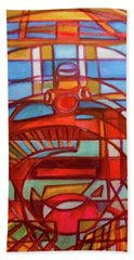 Beach Sheet featuring the painting Hexagram 48-jing-the Well by Denise Weaver Ross