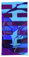 Beach Towel featuring the painting Hexagram 52-gen-immovable by Denise Weaver Ross