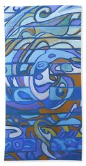 Beach Sheet featuring the painting Hexagram 59 - Huan Dispersion by Denise Weaver Ross