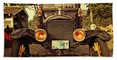 Hey A Model T Ford Truck Beach Towel
