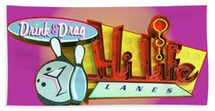 Beach Towel featuring the photograph Hi Life Drink And Drag by Jeff Burgess