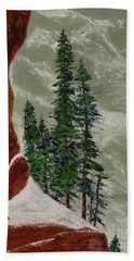 Hi Mountain Pine Trees Beach Towel