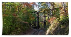 Hiawassee Loop Railroad Trestle Beach Towel