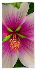 Hibiscus Face Beach Towel