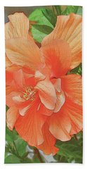 Hibiscus Flower Beach Towel